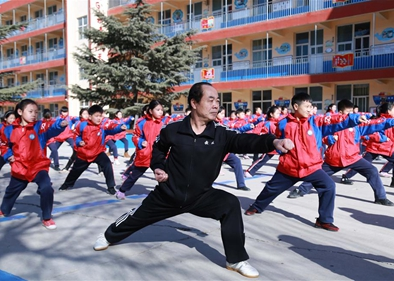 Chinese traditional martial art promoted in schools of Xingtai, north China