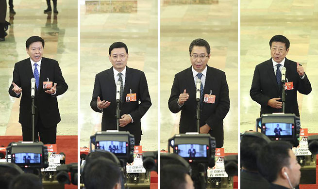 Ministers receive interview before 3rd plenary meeting of 2nd session of 13th NPC