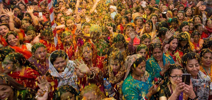 Celebration of Holi Festival held in Kathmandu