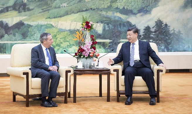 President Xi meets Harvard president