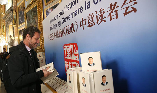 Xi's book on governance impresses Italian readers