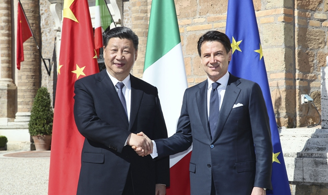 Xi, Conte hold talks on elevating China-Italy ties into new era