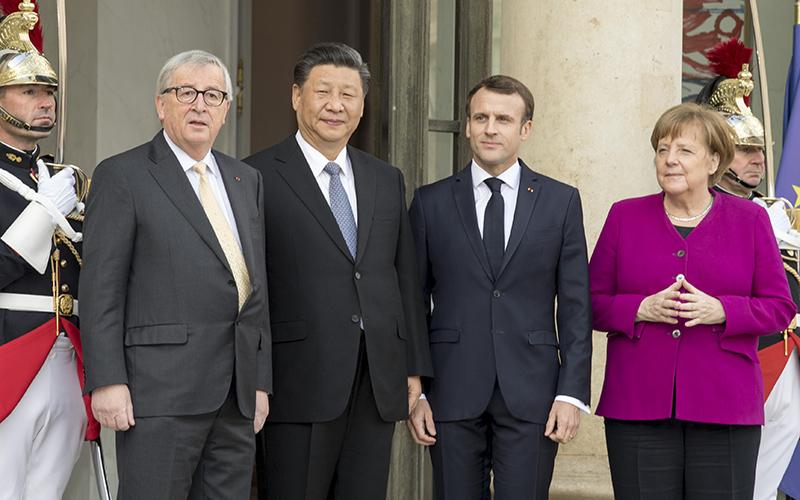 Xi meets European leaders on advancing ties, global governance