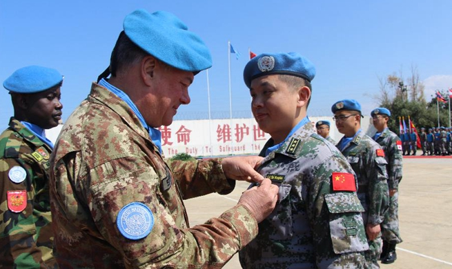 Chinese peacekeepers to Lebanon awarded UN medal