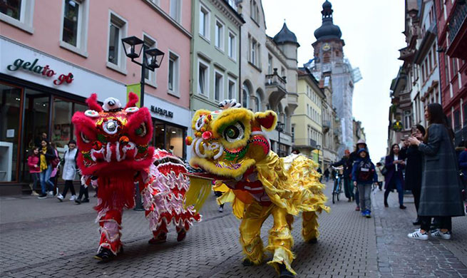 Chinese traditional cultural show performed in Germany to mark China Week Heidelberg