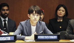 Chinese teen idol spotlights health promotion among young people at UN forum