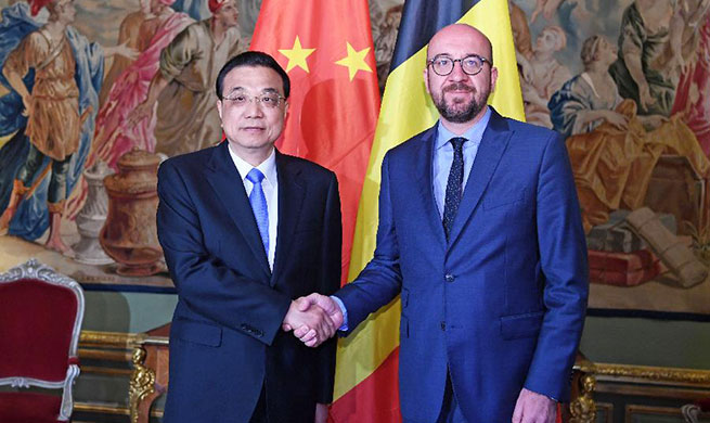 Chinese premier meets Belgian PM in Brussels