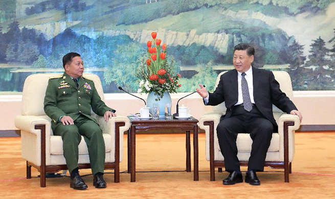 Xi meets with Myanmar's commander-in-chief of defense services