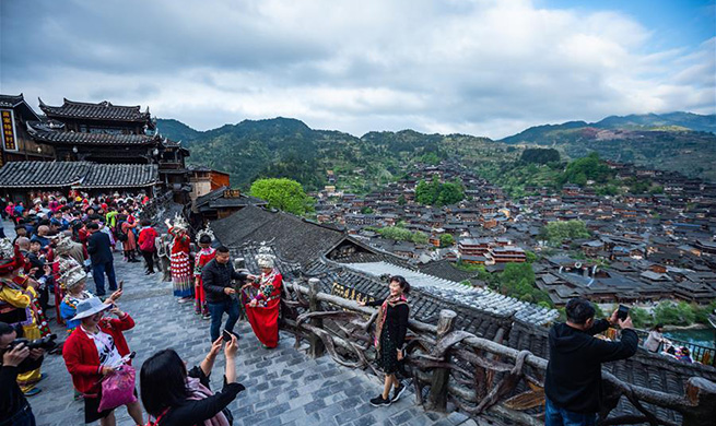 Scenery of Xijiang Qianhu Miao Village in China's Guizhou