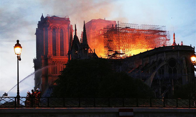 """Terrible"" fire breaks out at Notre Dame Cathedral in Paris"