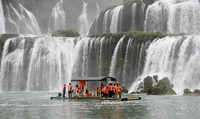 In pics: Detian Waterfalls in south China's Guangxi