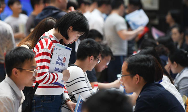 Job fair held at Anhui Jianzhu University in Hefei