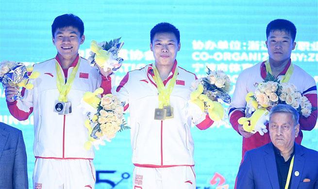 Chen Lijun wins gold at Asian Weightlifting Championships