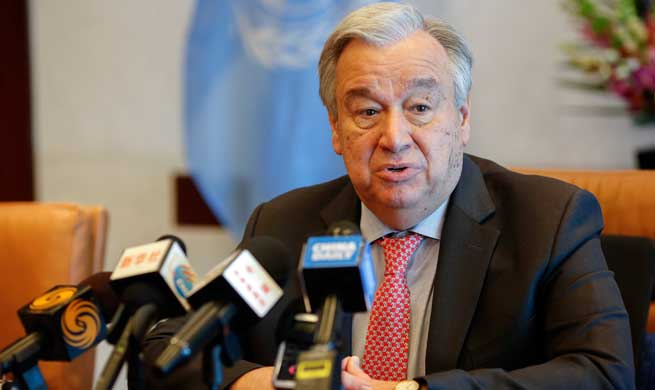 "UN chief says Belt and Road Initiative ""very important opportunity"""