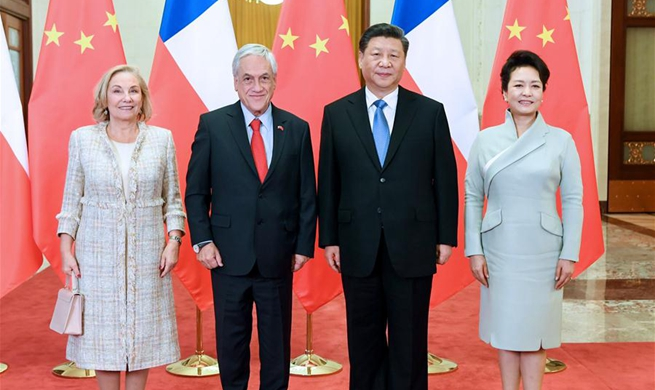 Chinese, Chilean presidents hold talks
