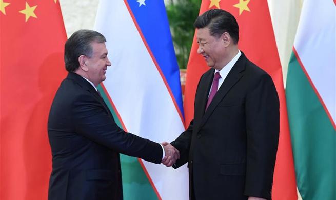 Xi meets Uzbek president