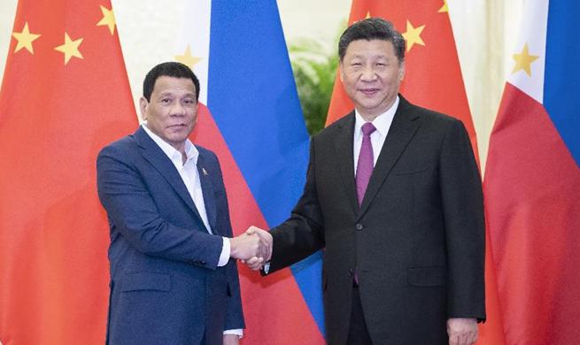 Xi meets Philippine president