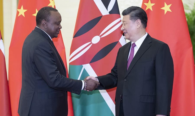 Xi meets Kenyan president