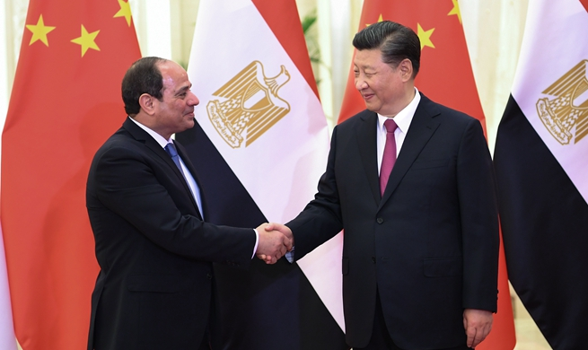 Xi meets Egyptian president