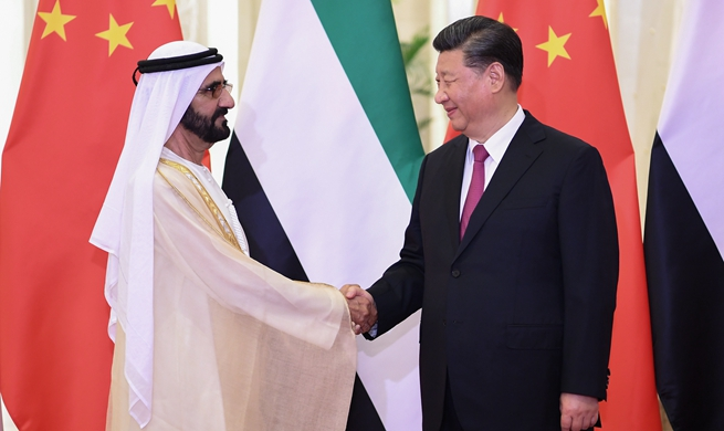 Xi meets UAE vice president