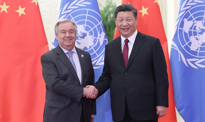 Xi meets UN chief