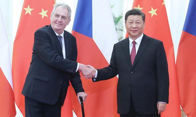 Xi meets Czech president