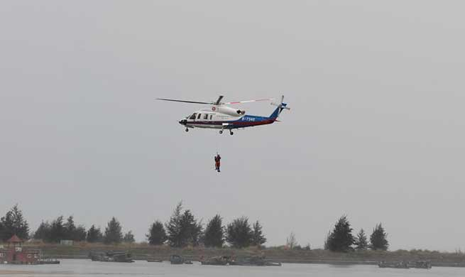 Drill on typhoon held in Haikou to test response ability to emergency