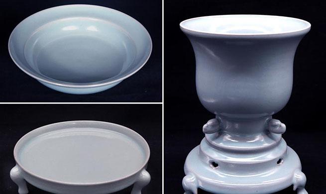 Pic story: representative inheritor of firing skills of Ru porcelain