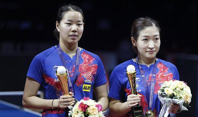 Liu Shiwen/Gu Yuting win women's doubles title at ITTF World Tour Platinum China Open