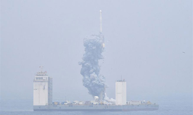 China completes first offshore rocket launch