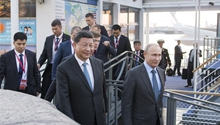 Xi, Putin meet in St. Petersburg