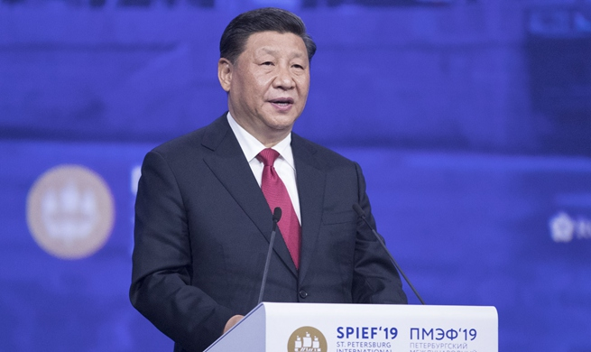 "Xi highlights sustainable development as ""golden key"" to solving global problems at SPIEF"