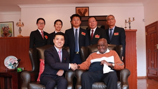 Zambia's former president meet Chinese medical teams