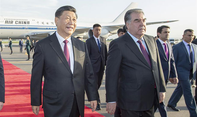 Chinese president arrives in Tajikistan for CICA summit, state visit