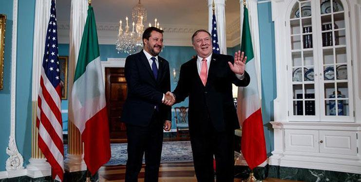 Pompeo meets with Italian deputy PM in Washington D.C.