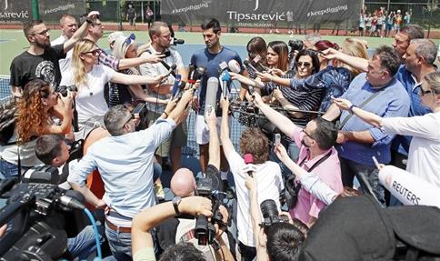 Djokovic ready to defend Wimbledon trophy