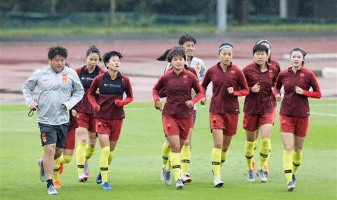 In pics: training session of China ahead of round of 16 match at Women's World Cup