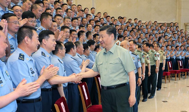 Xi meets with PLA Air Force Party Congress delegates