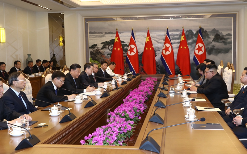Spotlight: Xi, Kim agree to jointly create bright future of bilateral ties
