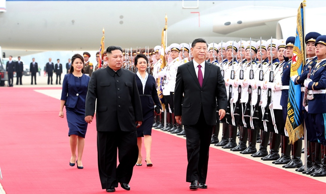 Xi arrives to great welcome in DPRK for state visit