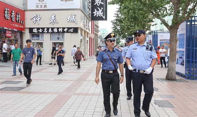 Italian police begin 3rd joint patrol in China