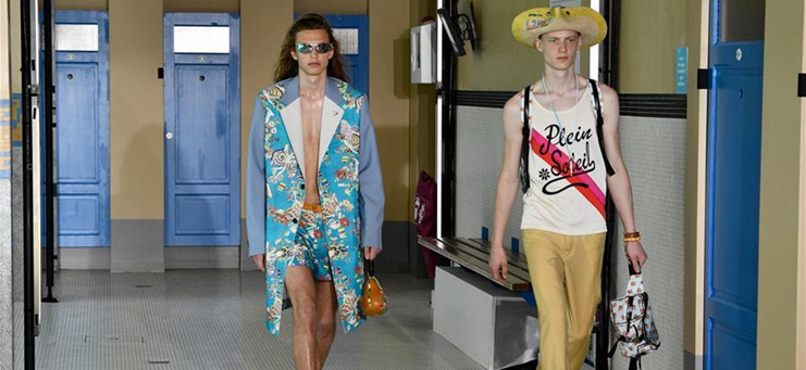 Creations of Lanvin's Spring/Summer 2020 collections presented in Paris