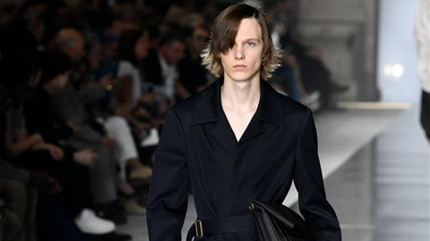 Creations of Dunhill's presented in Men's Fashion Week in Paris