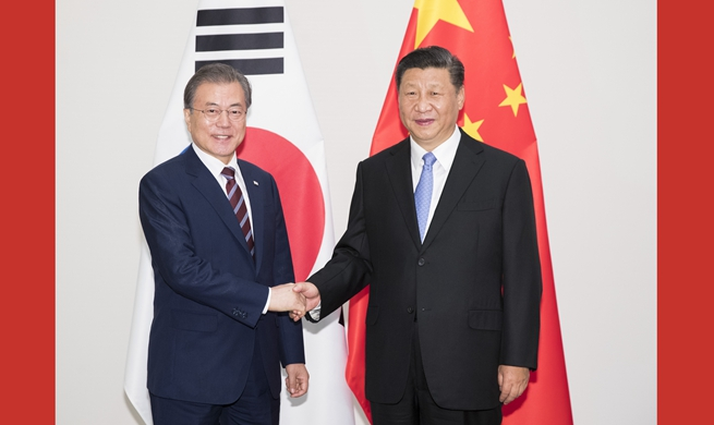 Xi, Moon agree to promote win-win cooperation, multilateralism and free trade