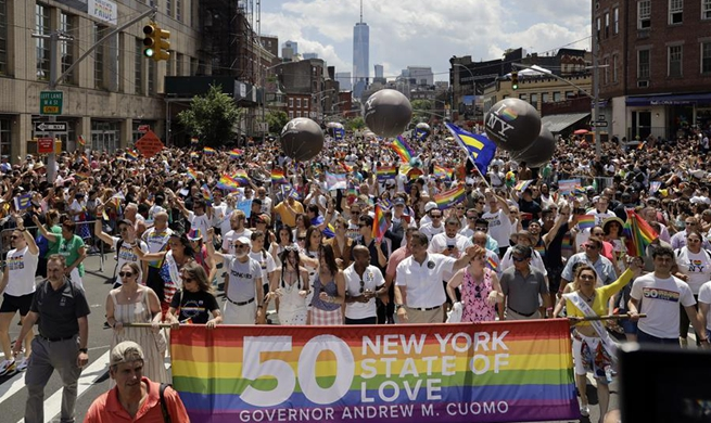 People participate in 2019 New York City Pride Parade in U.S.