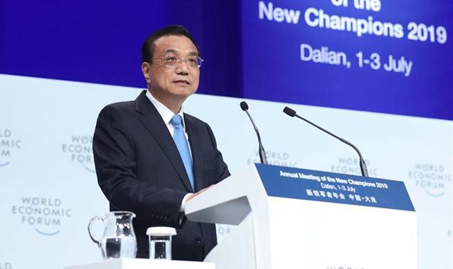 Premier Li addresses opening ceremony of Summer Davos Forum in Dalian