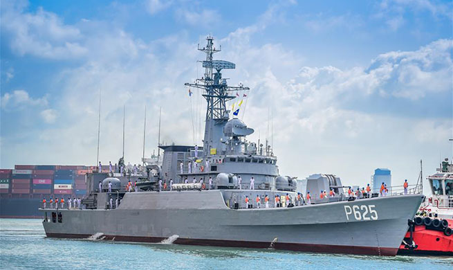 China-donated frigate arrives in Sri Lanka