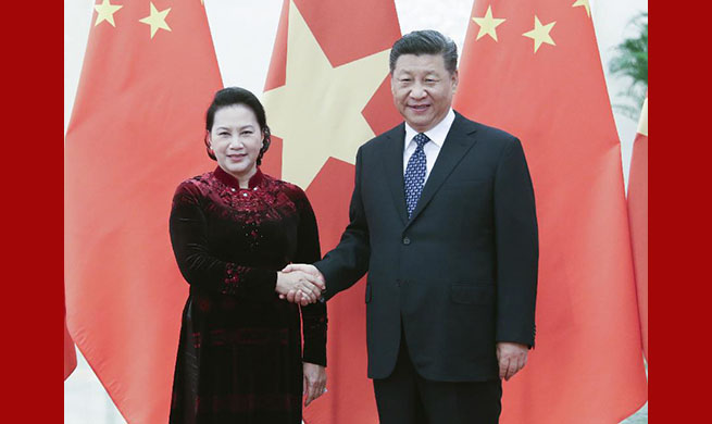 Xi meets Vietnam's national assembly chairwoman