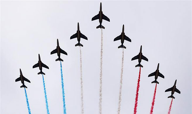 Annual Bastille Day military parade held in Paris, France