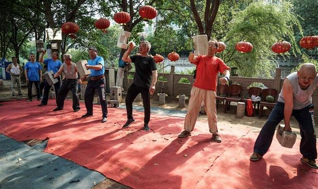 National fitness activity: Shisuo exercise